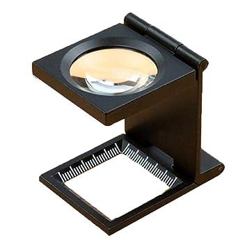 YONGMEI Lupa 10 Veces Espejo Plegable Mesa de medición Soporte de ...