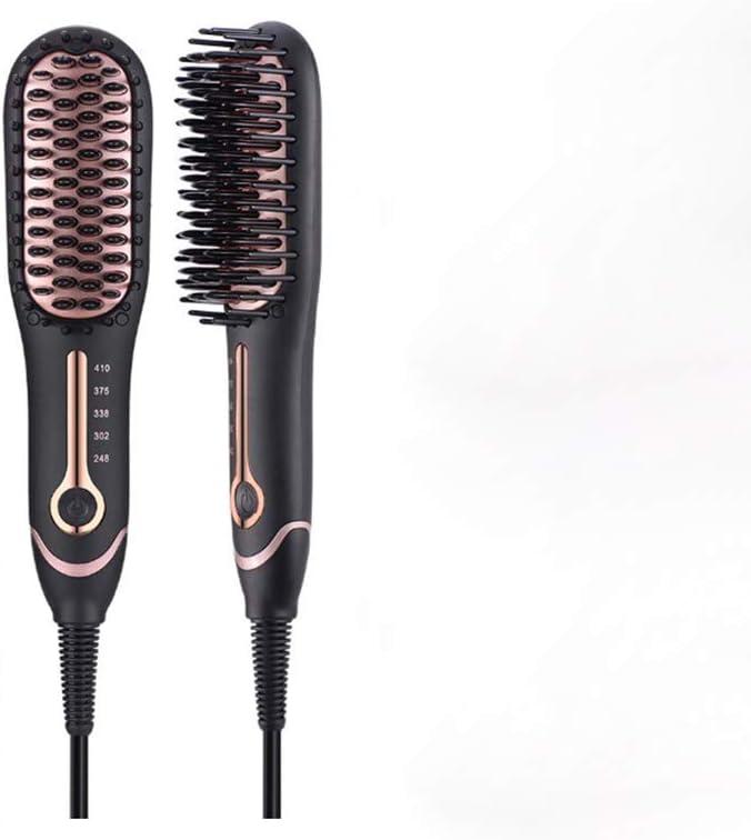 Mini Revestimiento CeráMico Doble Placa Calefactora Pincel de Maquillaje Plancha de Pelo RáPido
