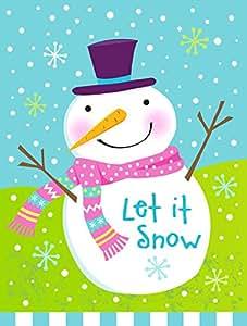 Caroline tesoros del vha3017gf Navidad muñeco de nieve Let It Snow bandera jardín, pequeño, multicolor