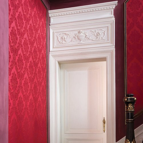 Orac Pediment 39'' Wide x 12 1/2'' High Shabby French Chic for top of door, window, or as wall decoration Primed White Polyurethane #D140