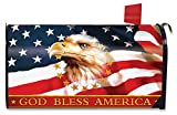 Briarwood Lane God Bless America Patriotic Large Mailbox Cover Eagle Oversized