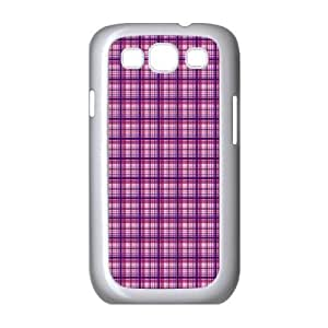 Custom Check Pattern Back Cover Case for SamSung Galaxy S3 I9300 JNS3-085