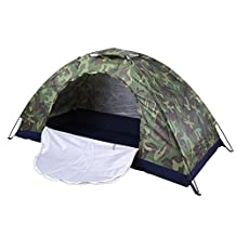 Single Camping Tent Camouflage Waterproof UPF 40+ Sun Protection