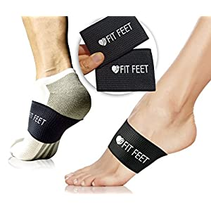 2 Foot Pain Relief Plantar Fasciitis Sleeves, Help for Heel Pain, Foot Cramps, Tendonitis, Heel Spurs, Sore and Flat Feet, Arthritis and Arch Support.