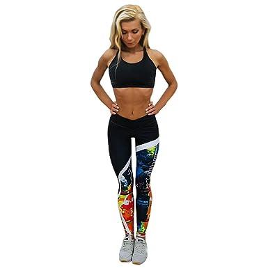 Yoga Hosen Damen,TWBB Mode Gedruckte Sport Gym Skinny Fitness ...
