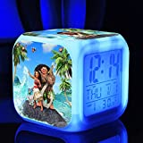 Enjoy Life : Cute Digital Multifunctional Alarm Clock With Glowing Led Lights and Moana sticker, Good Gift For Your Kids, Comes With Bonuses (06)