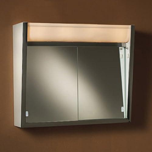 Broan-NuTone 124LP Ensign Surface Mount Medicine Cabinet, White Baked Enamel