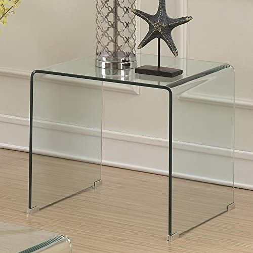 Coaster Home Furnishings End Table, Clear