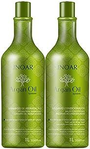 Inoar Kit Shampoo e Condicionador Argan Oil Hidratante 1000 Ml, Inoar, Não