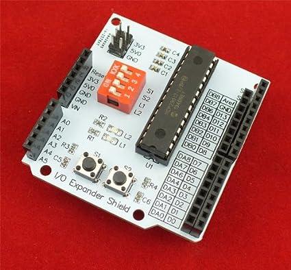 Amazon com: I/O Expander Shield for Arduino/pcDuino