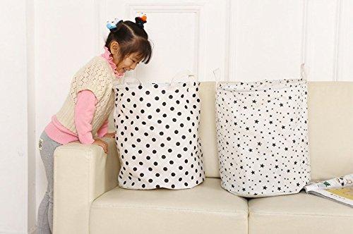 aloiness moda Lunares Bolsa de almacenamiento cestas grandes para la colada juguete bolsa de almacenamiento cesta de ropa organizador de maquillaje plegable funda de decoraci/ón para el hogar