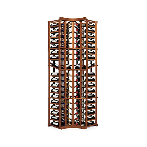 N'FINITY Wine Rack Kit - 4 Column Curved Corner with Display - Dark Walnut - Soli