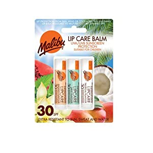 Malibu Blister Lipbalm with SPF30, Mango/ Mint/ Tropical 12 ml