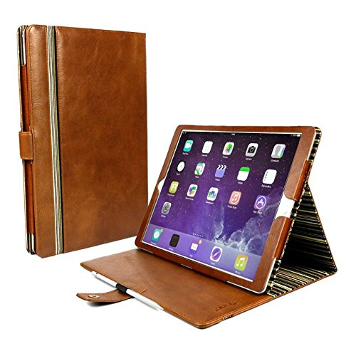 Alston Craig Vintage Genuine Leather Slim-Stand Case Cover for Apple iPad Pro - Brown by Alston Craig