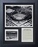 """Legends Never Die """"Comiskey Park Black and White Framed Photo Collage, 11 x 14-Inch"""