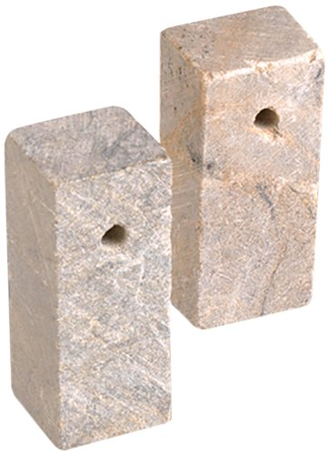- Efco Soapstone Blank Rectangular Cube with Hole, Neutral by