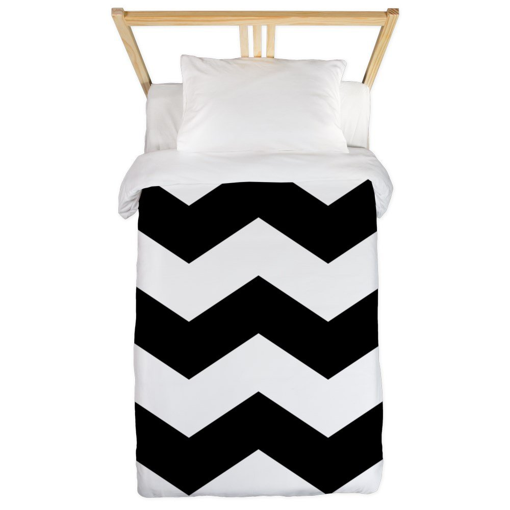 Amazon Com Cafepress Black And White Chevron Twin Duvet Twin Duvet
