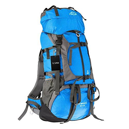 ck, 65L Waterproof Internal Frame Hiking Travel Rucksack Camping Luggage Backpack Trekking Bag Mountaineering Daypack with Rain Cover (65l Rucksack)
