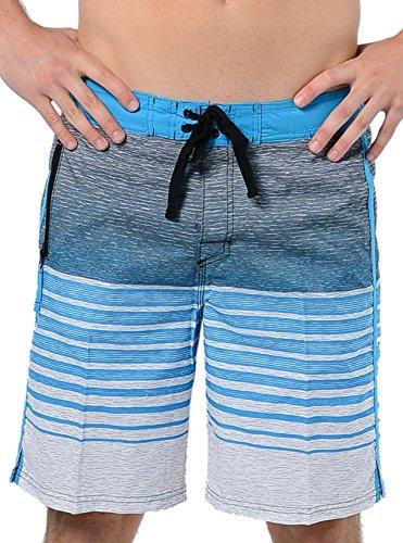 US Apparel Men's Static Glow Swim Trunks Aqua S