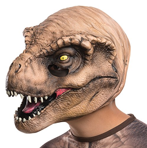 Rubie's Boy's Jurassic World T-Rex 3/4 Vinyl Mask Child Halloween Accessory