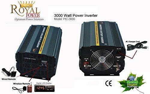 Royal Power PI3000-12 Power Inverter 3000 Watt 12 Volt DC To 110 Volt AC PI-3000