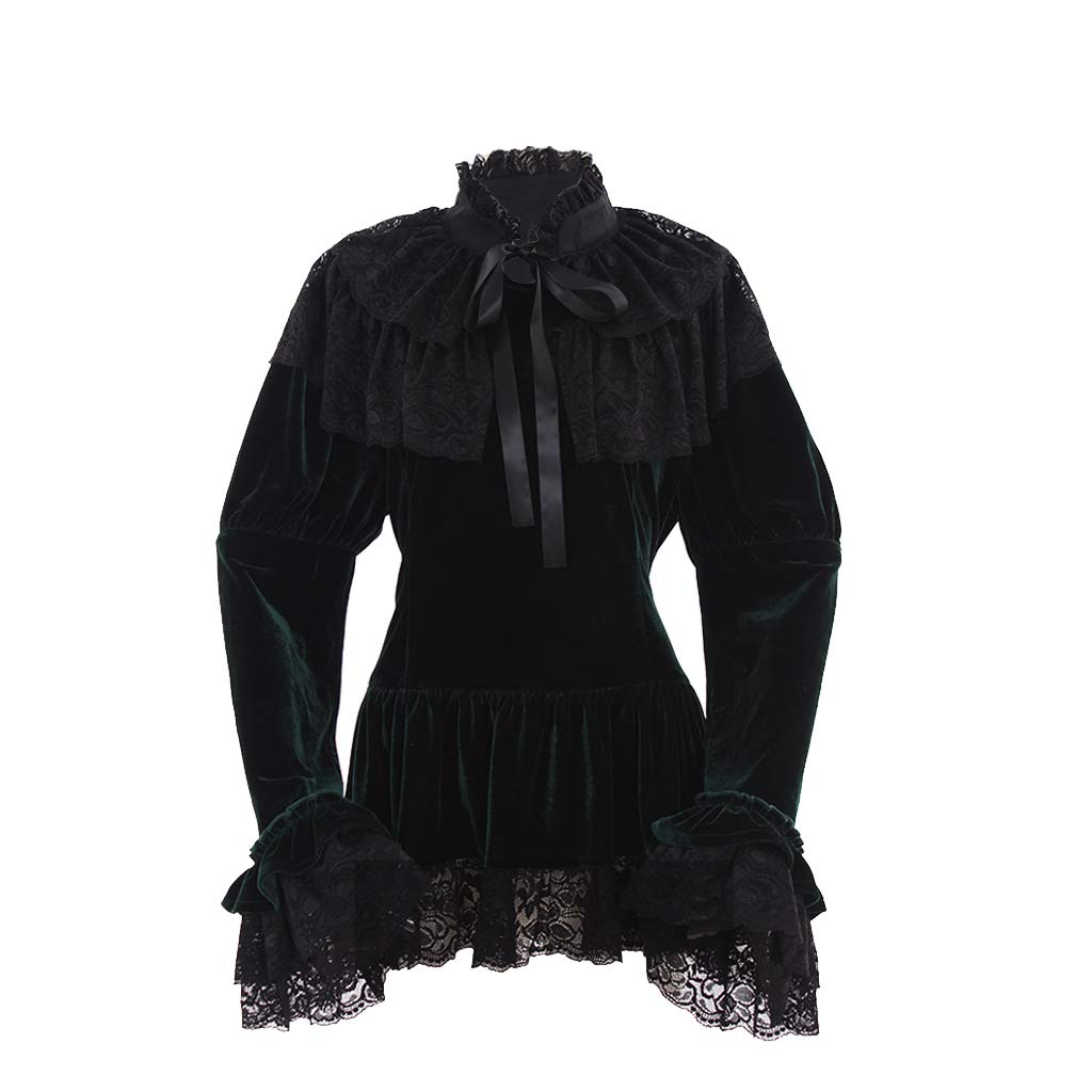 Steampunk Tops | Blouses, Shirts 1791s lady Gothic Steampunk Victorian Rococo Jacket Regency Costume $79.90 AT vintagedancer.com