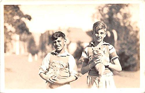 Kids with Animals Macatawa, Michigan postcard