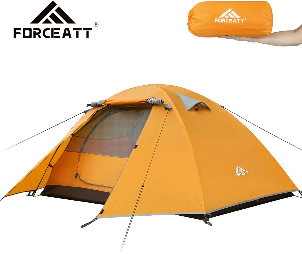 Aventura Etc Forceatt Tienda De Campa/ña 2 Personas con 100/% A Prueba De UV//Viento//Impermeable Tienda de Techo de Doble Capa Port/átil Ultraligera para Trekking Camping Playa