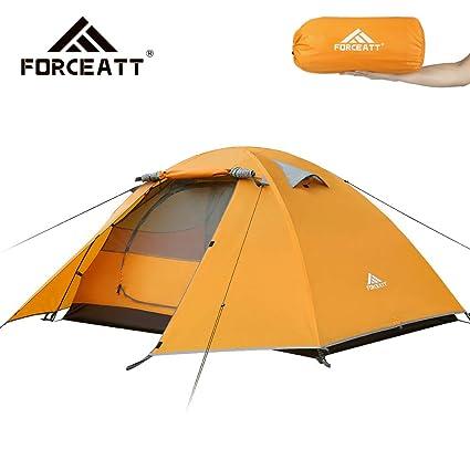 Forceatt Zelt 2 Personen Camping Wasserdicht 3-4 Saison,Ultraleicht Zelte Mit Kleinem Packma/ß Outdoor Festival. Kuppelzelt Sofortiges Aufstellen F/ür Trekking