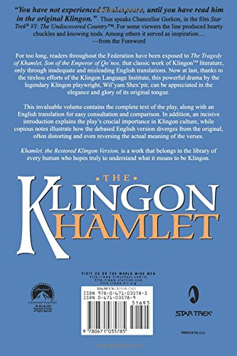 The Klingon Hamlet by Brand: Pocket Books/Star Trek