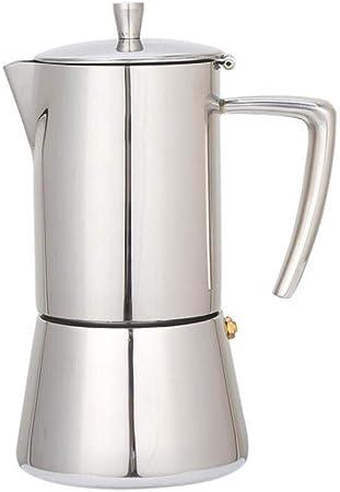 Hokaime Cafeteras Expresso 4/6 Tazas de Acero Inoxidable 304 Cafetera Moka Cafetera Estufa Máquina de café géiser Superior, 200ML: Amazon.es: Hogar