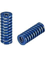 uxcell® 8mm OD 20mm Long Spiral Stamping Light Load Compression Mould Die Spring Blue 2Pcs