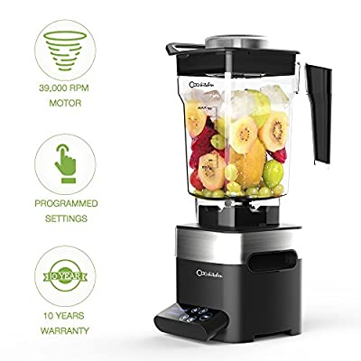 ODA Kitchen Professional Blender - Smoothie Maker 39,000 RPM Total Nutrition Food Processor with 50 OZ BPA-Free Pitcher, Programmed Settings High Speed Blender for Ice Fruit Vegetable Smoothie Soup