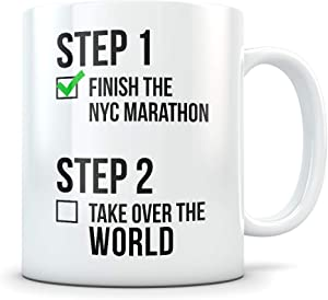 NYC Marathon Gifts for Men and Women - Funny Marathoner Coffee Mug - Great New York City Marathon Gift Idea for Runners, Athletes, or First Timers