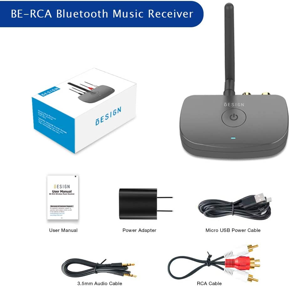 Bluetooth 5.0 Receiver for Wired Speakers or Home Music Streaming ...