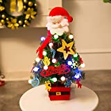 Highpot Artificial Flocking Christmas Tree With Lights Multicolor Holiday Window Xmas Decor