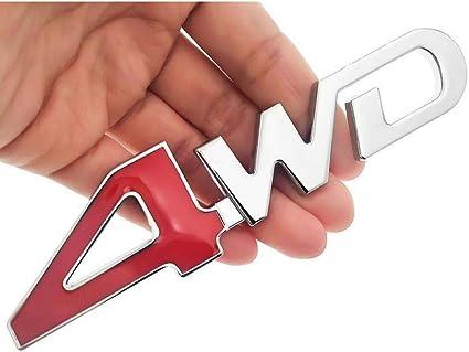 Car Tail Rear Side Metal 4x4 RC Car 4WD Sticker 3D Chrome Badge Car Emblem Badge
