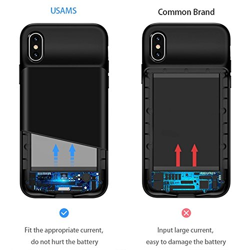 brand new ebb35 a9b0c Original USAMS Battery Charger Case for iPhone X: Amazon.in: Electronics