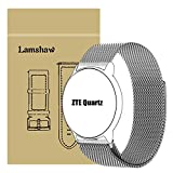 ZTE Quartz Smartwatch Band, Lamshaw Milanese Magnetic Loop Stainless Steel Watch Strap for ZTE Quartz Smartwatch (Silver)