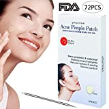 Acne Pimple Master Patch - 72Count Hydrocolloid Bandages Acne Spot Treatment Absorbing Zit Cover Healing Dots by UNGLINGA, Drug-free Non-drying, Φ12mm