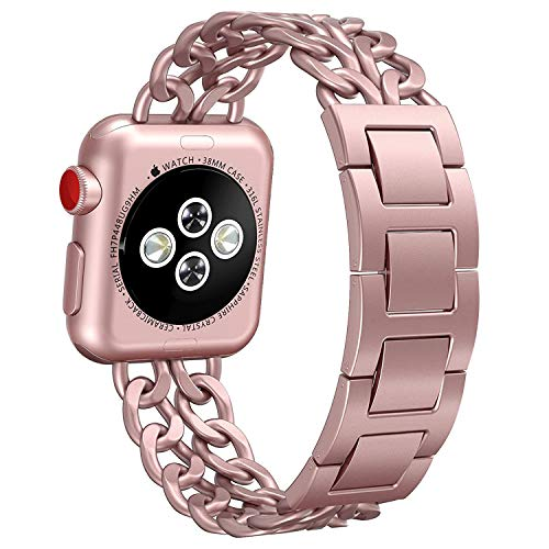Authentic Hermes Leather Bracelet - NO1seller Top Bands Compatible for Apple Watch 38mm 42mm, Metal Cowboy Style Bracelet Strap Replacement Wristband for Apple Watch Series 4 40mm 44mm 3/2/1,Sport,Nike+,Edition