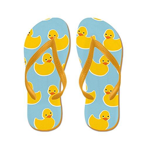 CafePress Cute Ducky Pattern - Flip Flops, Funny Thong Sandals, Beach Sandals Orange