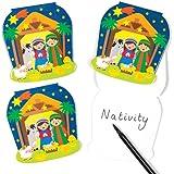 Set di blocchetti a tema Natività per bambini - Ideali da inserire in buste regalo o calze natalizie per bambini (confezione da 6)
