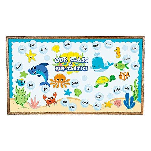 Fun Express Under The Sea Bulletin Board Set - Educational Classroom Decorations - 71 Pieces]()