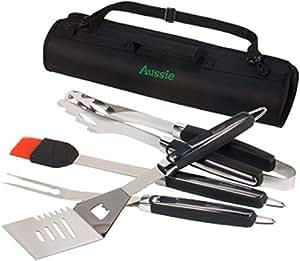 Aussie Juego de utensilios de cocina para parrillas -4piezas