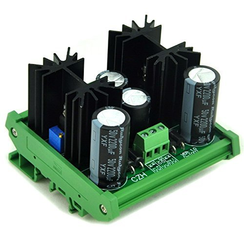 - Electronics-salon DIN Rail Mount Step-down Positive/Negative 1.25~37V DC Adjustable Voltage Regulator Module