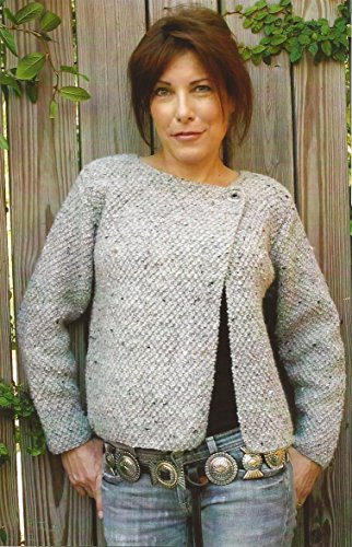 Tribeca Dolce Handknits Knitting Pattern #0802 Asymmetrical One-button Jacket 34