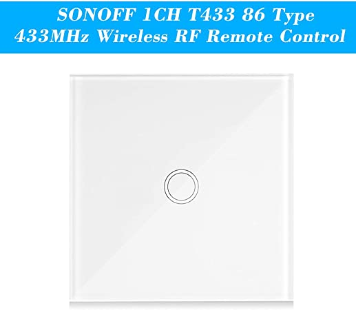 SONOFF T433 86Type Wall Panel Sticky 433MHz Wireless RF Remote Control UK