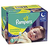 Diapers Size 5, 50 Count - Pampers Swaddlers Overnights Disposable Baby Diapers, SUPER: more info