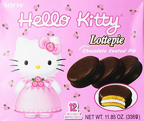 Lotte Hello Kitty Chocolate Pie (12 Pieces)]()